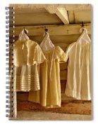 Pioneer Days-child's Dresses Spiral Notebook
