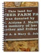 Pioneer Farm Park Plaque At Andersonville Georgia Spiral Notebook
