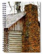 Pioneer Log Cabin Chimney Spiral Notebook