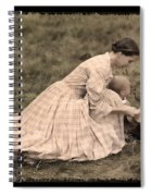 Pioneer Mother And Children Spiral Notebook