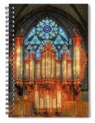 Pipe Organ Spiral Notebook