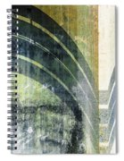 Piped Abstract Spiral Notebook