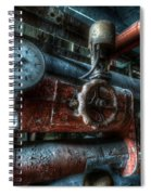 Pipes And Clocks Spiral Notebook