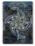 Pipes In Blue Spiral Notebook