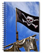 Pirate Flag On Ships Mast Spiral Notebook