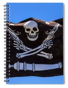 Pirate Flag With Skull And Pistols Spiral Notebook