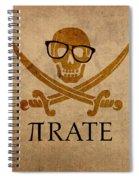 Pirate Math Nerd Humor Poster Art Spiral Notebook