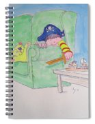 Pirate Poster For Kids Spiral Notebook