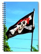 Pirate Ship Flag Of The Skull And Crossbones Spiral Notebook