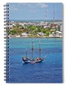Pirate Ship In Cozumel Spiral Notebook
