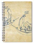 Pirate Ship Patent Artwork - Vintage Spiral Notebook