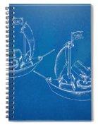 Pirate Ship Patent - Blueprint Spiral Notebook