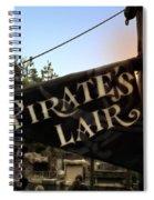 Pirates Lair Signage Frontierland Disneyland Spiral Notebook