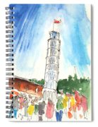 Pisa In Italy 01 Spiral Notebook