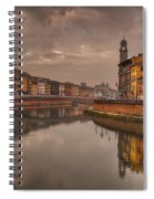 Pisa On The Arno Spiral Notebook