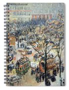 Pissarro's Boulevard Des Italiens In Morning Sunlight Spiral Notebook