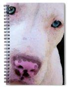 Pit Bull Art - Not A Fighter Spiral Notebook