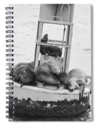 Pit Stop Black And White Spiral Notebook