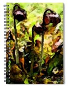 Pitcher Plant Abstraction Spiral Notebook