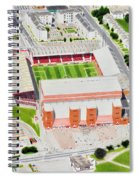 Pittodrie Stadia Art Spiral Notebook
