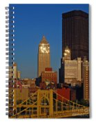 Pittsburg At Dusk Spiral Notebook