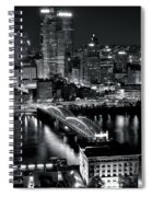 Pittsburgh Black And White  Spiral Notebook