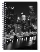 Pittsburgh Black And White Night Spiral Notebook