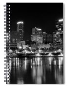Pittsburgh Black And White Panorama Spiral Notebook