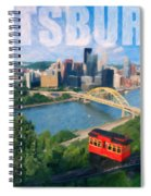 Pittsburgh Digital Painting Spiral Notebook