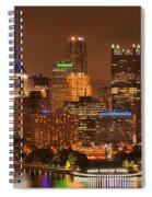 Pittsburgh Lights Under Cloudy Skies Spiral Notebook