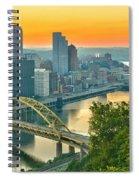 Pittsburgh Orange Skyline Spiral Notebook
