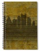 Pittsburgh Pennsylvania City Skyline Silhouette Distressed On Worn Peeling Wood No Name Version Spiral Notebook
