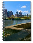 Pittsburgh Pennsylvania Skyline And Bridges As Seen From The North Shore Spiral Notebook