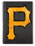 Pittsburgh Pirates Baseball Vintage Logo License Plate Art Spiral Notebook