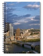 Pittsburgh Skyline At Dusk Spiral Notebook