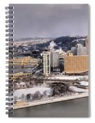 Pittsburgh's First Snow Of 2015 Spiral Notebook