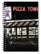 Pizza Town Spiral Notebook