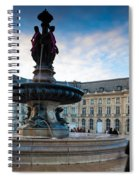 Place De La Bourse Buildings At Dusk Spiral Notebook