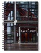 Place De La Defense Spiral Notebook