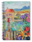 Place In The Country, 2014, Acrylicpaper Collage Spiral Notebook