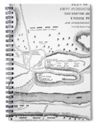 Plan Of The Battle Of Saratoga October 1777 Spiral Notebook