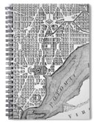 Plan Of The City Of Washington As Originally Laid Out In 1793 Spiral Notebook
