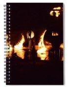 Plane Ablaze Spiral Notebook