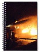 Plane Burning Spiral Notebook