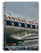 Plane Fly Eastern Air Lines Spiral Notebook