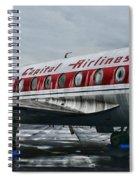 Plane Obsolete Capital Airlines Spiral Notebook