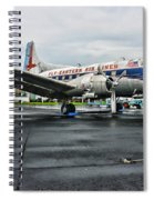Plane On The Tarmac Spiral Notebook