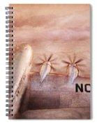 Plane - Pilot - Tropical Getaway Spiral Notebook