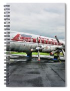 Plane Props On Capital Airlines Spiral Notebook