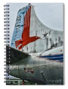 Plane Tail Wing Eastern Air Lines Spiral Notebook